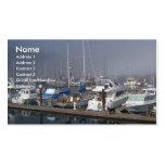 Barcos del puerto plantilla de tarjeta de visita