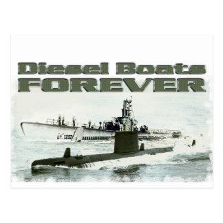 Barcos diesel para siempre postal