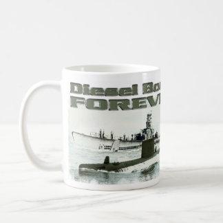 Barcos diesel para siempre taza de café