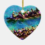Barcos e2 del dragón adorno de navidad