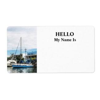 Barcos en Bridgetown Barbados Etiquetas De Envío