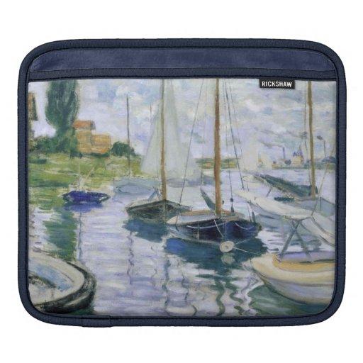 Barcos en descanso mangas de iPad