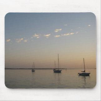Barcos en el agua Mousepad Tapetes De Ratones