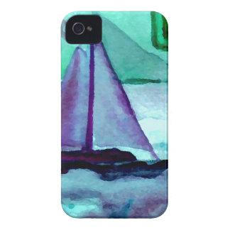 Barcos en el arte CricketDiane de la navegación de iPhone 4 Case-Mate Protector