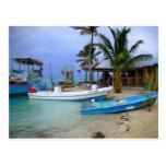 Barcos en el calafate de Caye, Belice Postales