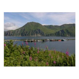 Barcos en el escupitajo en el puerto holandés, postales