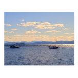 Barcos en el lago Champlain Postal
