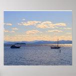 Barcos en el lago Champlain Póster