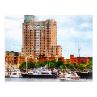 Barcos en el MD interno de Baltimore del puerto Tarjeta Postal