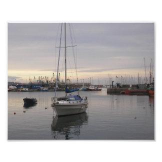 Barcos en el puerto de Brixham Fotografías