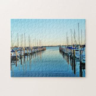 Barcos en el puerto deportivo puzzles