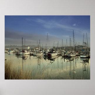Barcos en el puerto poster