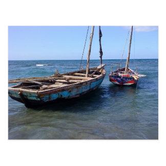 Barcos en Haití Postales
