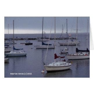 Barcos en la bahía de Monterey Tarjeta De Felicitación