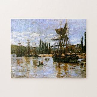 Barcos en la bella arte 1872 de Ruán Monet Puzzle