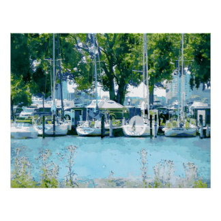 Barcos en la isla de la belleza