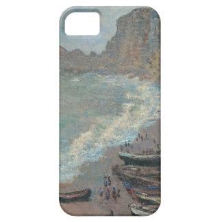 Barcos en la playa, Claude Monet iPhone 5 Fundas