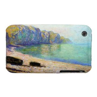 Barcos en la playa en Pourville, marea baja Monet Carcasa Para iPhone 3