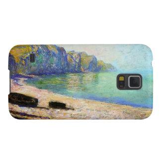 Barcos en la playa en Pourville, marea baja Monet Carcasa De Galaxy S5