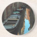 Barcos en los edificios de Venecia Italia del agua Posavasos Cerveza