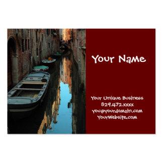 Barcos en los edificios de Venecia Italia del agua Tarjetas De Visita Grandes