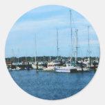 Barcos en Newport RI Pegatinas Redondas