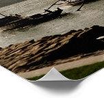 Barcos en Rover el Duero Poster