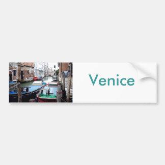 Barcos en Venecia Pegatina Para Auto