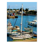 Barcos en Wharf de rey, Bermudas Tarjeta Postal