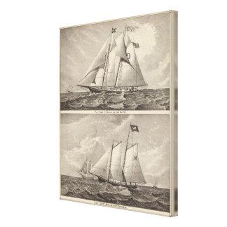 Barcos experimentales EG. Caballero y Whilldin Lona Envuelta Para Galerías