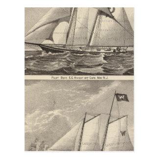 Barcos experimentales EG. Caballero y Whilldin Postales