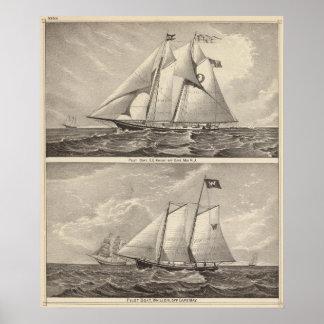 Barcos experimentales EG. Caballero y Whilldin Póster