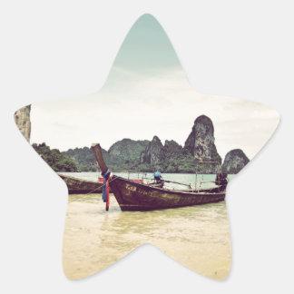 Barcos gemelos de la Largo-cola Pegatina En Forma De Estrella