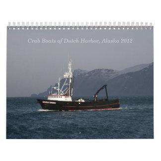 Barcos holandeses 2012 del cangrejo del puerto calendarios de pared