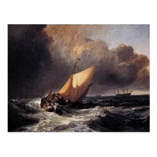 Barcos holandeses en un vendaval postales
