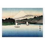 Barcos japoneses del campo y de pesca tarjeta