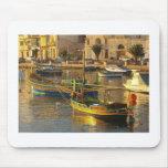 Barcos malteses alfombrillas de ratón