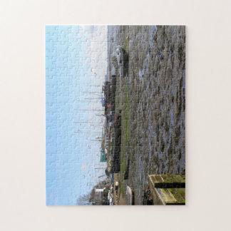barcos naufragados con marea baja puzzle con fotos