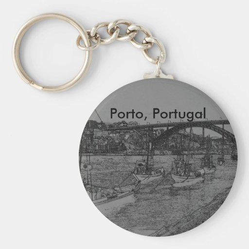 Barcos, Oporto, Portugal Llaveros