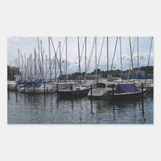 ¡Barcos! Pegatina Rectangular