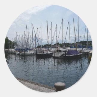 ¡Barcos! Pegatina Redonda
