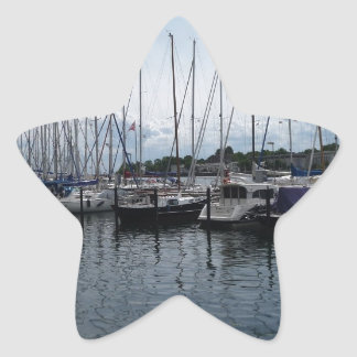 ¡Barcos! Pegatina En Forma De Estrella