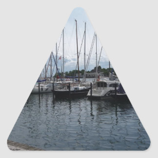 ¡Barcos! Pegatina Triangular