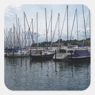 ¡Barcos! Pegatina Cuadrada