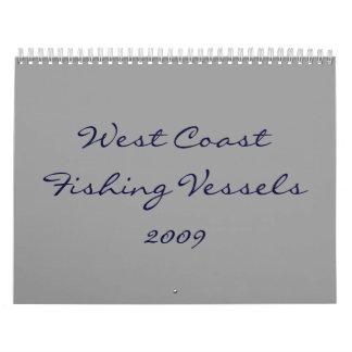 Barcos pesqueros de la costa oeste calendario