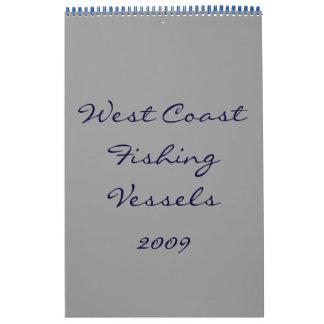Barcos pesqueros de la costa oeste - modificados calendarios de pared