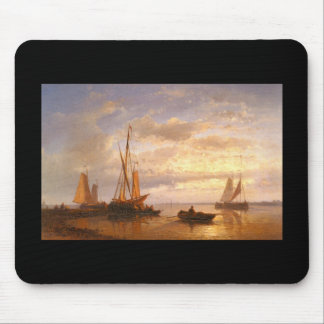 Barcos pesqueros holandeses del armatoste de Abrah Alfombrilla De Ratón