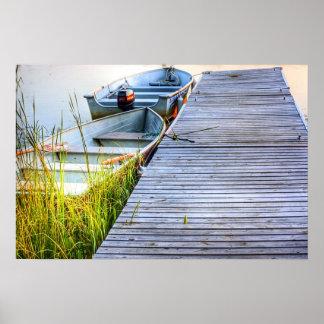 Barcos por el muelle impresiones