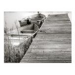 Barcos por el muelle tarjeta postal