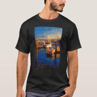 Barcos, puesta del sol, bahía de Morro, Calif Playera
